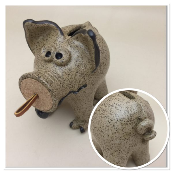 how to make piggy bank clay